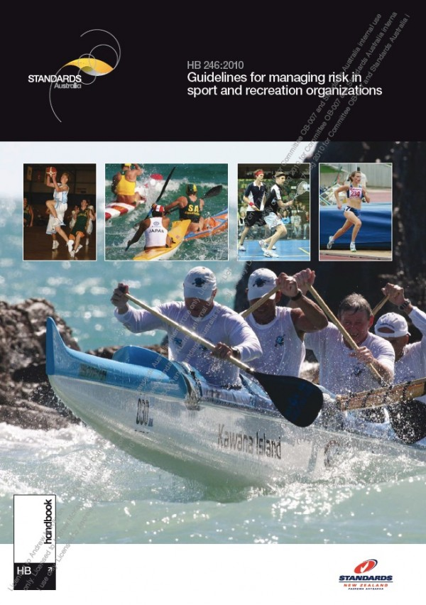 HB 246-2010 Guidelines for managing risk in sport and recreation organizations