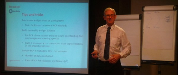 Dr Cooper presenting at an ERM workshop in Qatar, June 2014