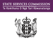 Logo for the State Services Commission, New Zealand