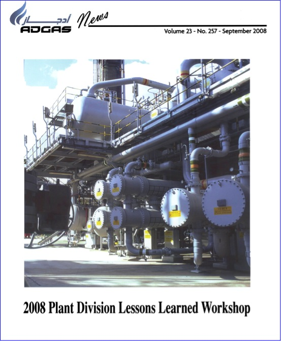 Cover from ADGAS News, the company's monthly internal magazine