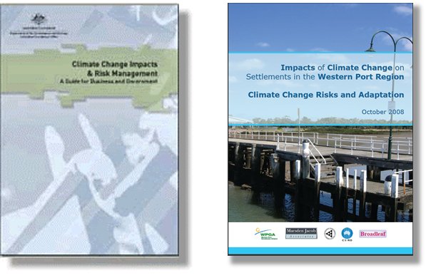 Covers of the AGO and Western Port climate change publications